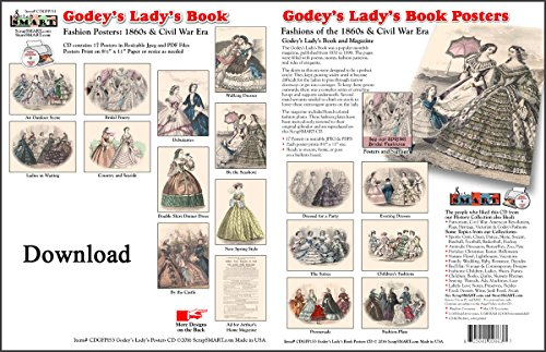 Lady's Book Posters: Software Collection- Jpeg & PDF Files [Download] ()