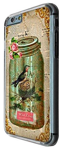 541 - Vintage Shabby Chic Victorian Bird Nest Floral Roses Design iphone 6 6S 4.7'' Coque Fashion Trend Case Coque Protection Cover plastique et métal