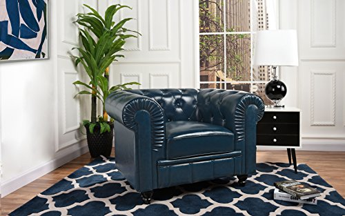 Used, Divano Roma Classic Chesterfield Scroll Arm Tufted for sale  Delivered anywhere in USA