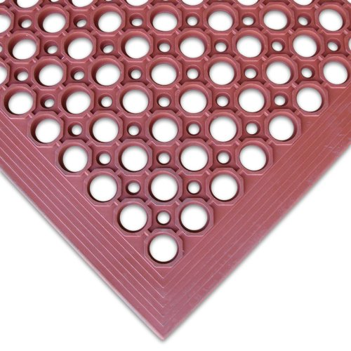 Rubber-Cal 03_122_WRE ''1/2-inch Dura Chef'' Non-Slip Rubber Kitchen Floor Mat, 1/2'' x 36'' x 60'', Red by Rubber-Cal