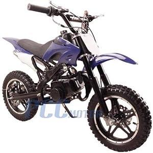 DB50X 48L KIDS 49CC 2 STROKE GAS MOTOR DIRT MINI POCKET BIKE (Blue)