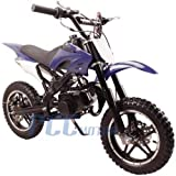 gas bike - DB50X 48L KIDS 49CC 2 STROKE GAS MOTOR DIRT MINI POCKET BIKE (Blue)