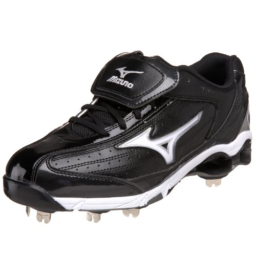 Mizuno Men's 9-Spike Classic Switch Baseball Cleat,Black/White,9.5 M US