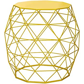 Amazon adeco home garden accents wire round iron metal stool adeco home garden accents wire round iron metal stool side end table plant stand chair keyboard keysfo Image collections