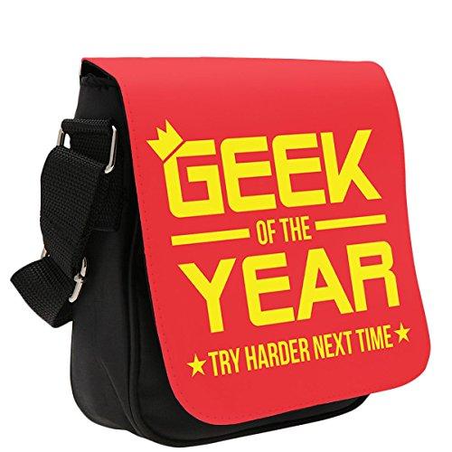 Art Hustle Geek dell' anno classico Reporter Borsa