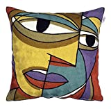 UNOVISTA HOME Face in The Crowd Embroidered Cushion