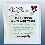 Wine Making - VinClasse® All Purpose White Wine Yeast - 5 Gram Sachet