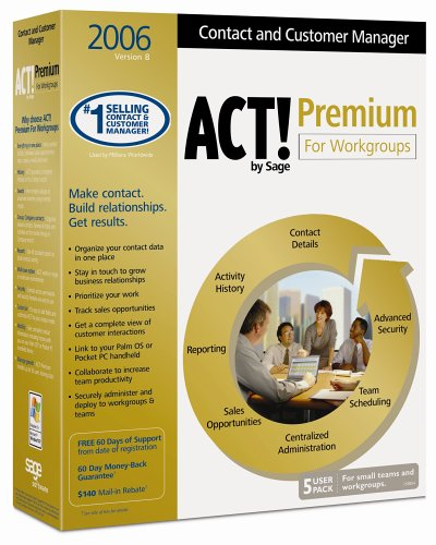 ACT! 2006 Premium for Workgroups (5 User Pack)