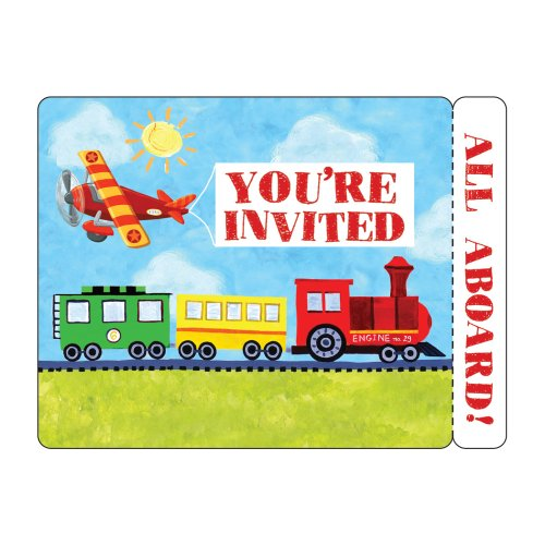Creative Converting On-The-Go 8 Count Postcard Party Invitations]()
