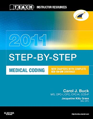 teach instructor resources tir manual for step by step medical rh amazon com medical coding manual medical coding manual