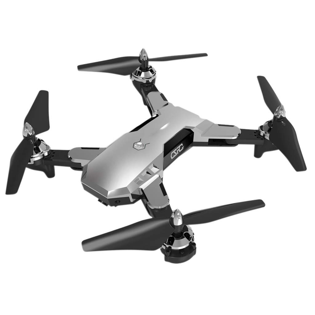 Hisoul CS-7 RC Quadcopter 2.4G 4CH 6-Axis 1080P HD Camera WiFi FPV Foldable Selfie Drone 360° Rolling / Headless Mode / One Key Automatic Return RC Quadcopter RTF (♥ Silver)