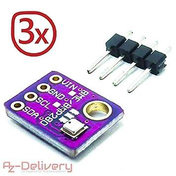 AZDelivery ⭐⭐⭐⭐⭐ GY-68 BMP180 Digital Barometric Pressure Temperature and Altitude Sensor Module Board for Arduino and Raspberry Pi