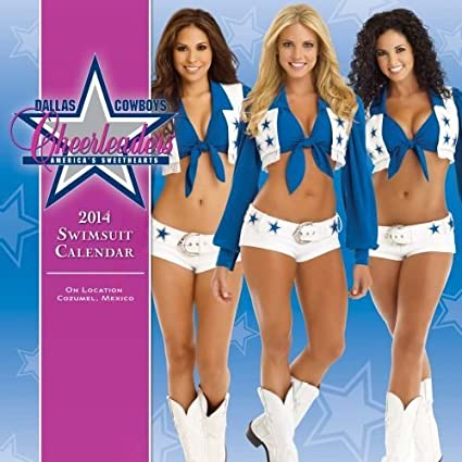 a86e3d567df8 2014 DALLAS COWBOYS Porristas traje de baño calendario: Amazon.es: Hogar