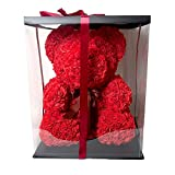 ♥♥♥ Give the person you love a gift made of roses that will last forever! A gorgeous decorative teddy bear made of soft synthetic roses in a romantic red color.♥♥♥  ♥♥♥The perfect anniversary or Christmas gift that will look great as a decoration pie...