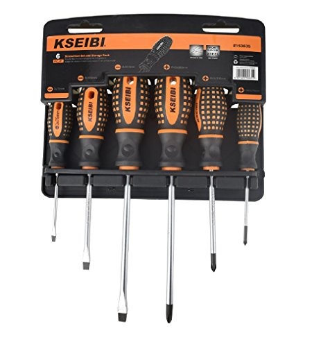 KSEIBI 153635 Slotted and Phillips Screwdriver Set with Stor
