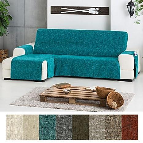 Funda Cubre Chaise Longue Modelo Love, Color MARRÓN OSCURO (C/07), Medida Extra (290cm), con Brazo IZQUIERDO (Mirándolo de frente)