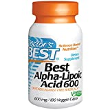 Doctor's Best Alpha Lipoic Acid (600mg, 180 Vegetarian Capsules)