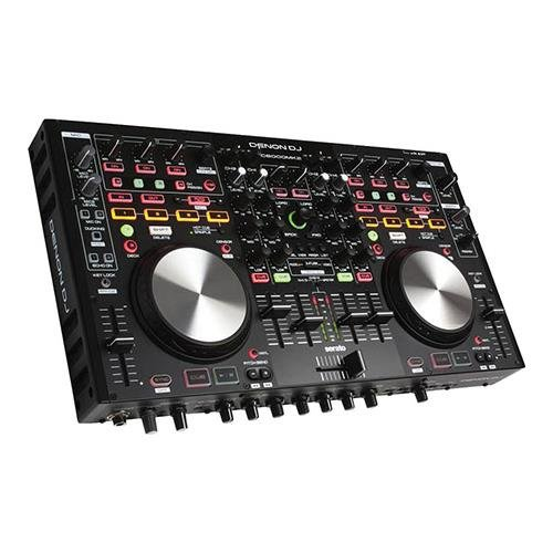 Denon DJ DNMC6000MK2  | Premium Digital DJ Controller & Mixer with full Serato DJ download (4-Channel / 4-Deck / 8-Source) Digital Matrix Mixer