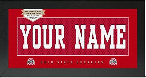 Ohio State Buckeyes NCAA Custom Jersey Nameplate Framed Sign