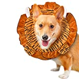 NACOCO Pet E-Collar Tiger Style Dog Cone Recovery Protective Mask Anti Bite for Dog and Cat (L)