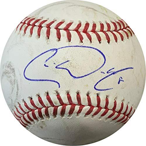 Texas Rangers Autographed Mlb Baseball - Chris Woodward Signed OML GAME USED Baseball Authenticated Texas Rangers COA - MLB Autographed Game Used Baseballs