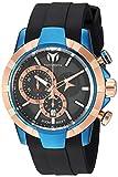 """Reloj de hombre de acero inoxidable y silicona """"UF6"""" de Technomarine para hombre, color: negro (Modelo: TM-615015)"""