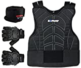 zephyr chest protector - Zephyr Pro Padded Chest Protector Combo Package - Paintball, Airsoft, Etc. - Small / Medium Gloves