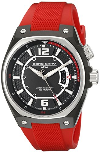 Jorg Gray Men's JG8300-12 Analog Display Quartz Red Watch