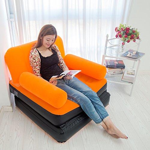 ASZLL Qualität Wildleder Mode einzelne aufblasbare Sessel lazy Couch NAP NAP Bett
