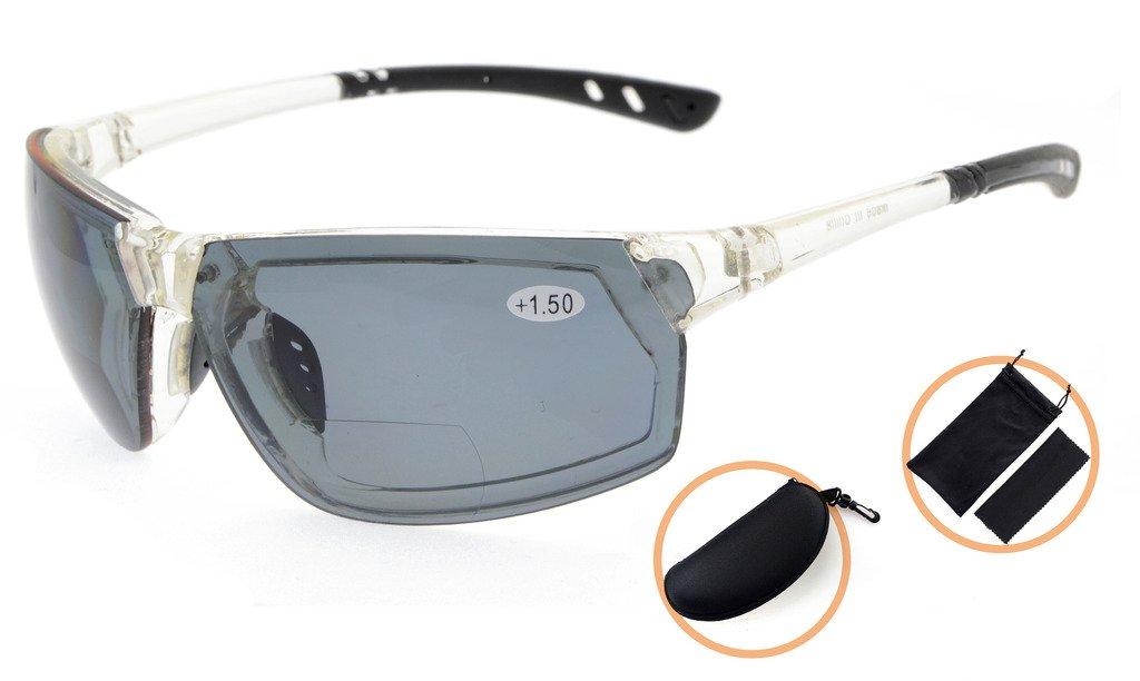 Eyekepper Polycarbonat Polarized TR90 Unbreakable Sport Sonnenbrillen Für Männer Frauen Baseball Running Fischen Fahren Golf Softball Wandern White Frame Grey Lens DCt7f8Y