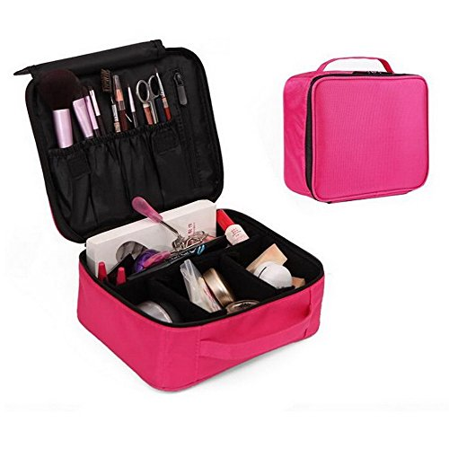 Jiaruo Portable Makeup Train Case Waterproof Cosmetic Organi