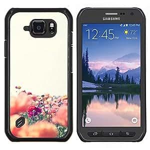 Eason Shop / Premium SLIM PC / Aliminium Casa Carcasa Funda Case Bandera Cover - Colorful Flower Field Naturaleza - For Samsung Galaxy S6 Active G890A