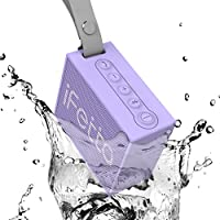 Ifecco Portable Wireless Speaker, Bluetooth 4.1 Waterproof Speaker with Built-In Mic Perfect Speaker for Outdoor, Beach, Shower & Home (taro purple)