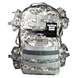 Tactical Backpack - NPUSA Men's Large Expandable Tactical Molle Hydration ReadyBackpack Daypack Bag - ACU Digital Camo