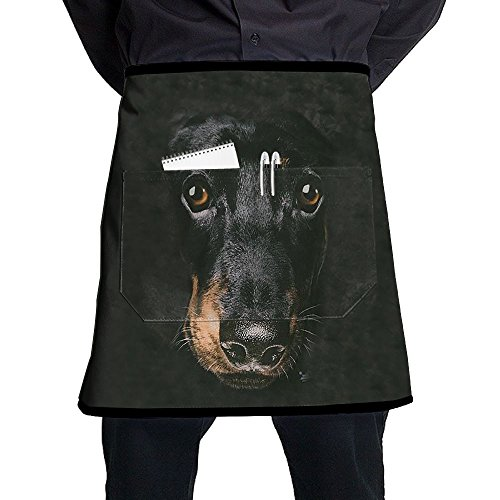 Bib Dachshund Face Apron With Adjustable Bib Waterproof Apron Pockets For Mens And Men Women Chef