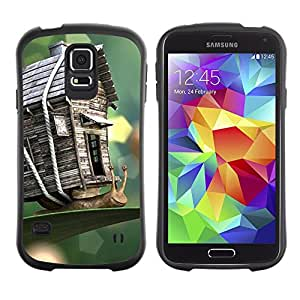 LASTONE PHONE CASE / Suave Silicona Caso Carcasa de Caucho Funda para Samsung Galaxy S5 SM-G900 / House Nature Wood Craft Spring Summer
