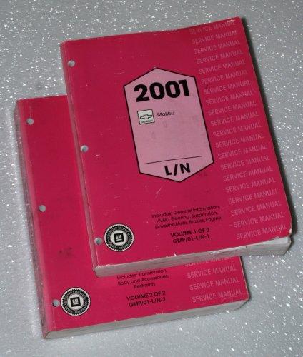 2001 Chevrolet Malibu Service Manuals (GM L/N Platform, 2 Volume Set)