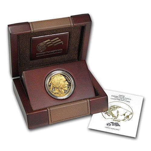 2008 W 1 oz Proof Gold Buffalo (w/Box & COA) 1 OZ Brilliant Uncirculated