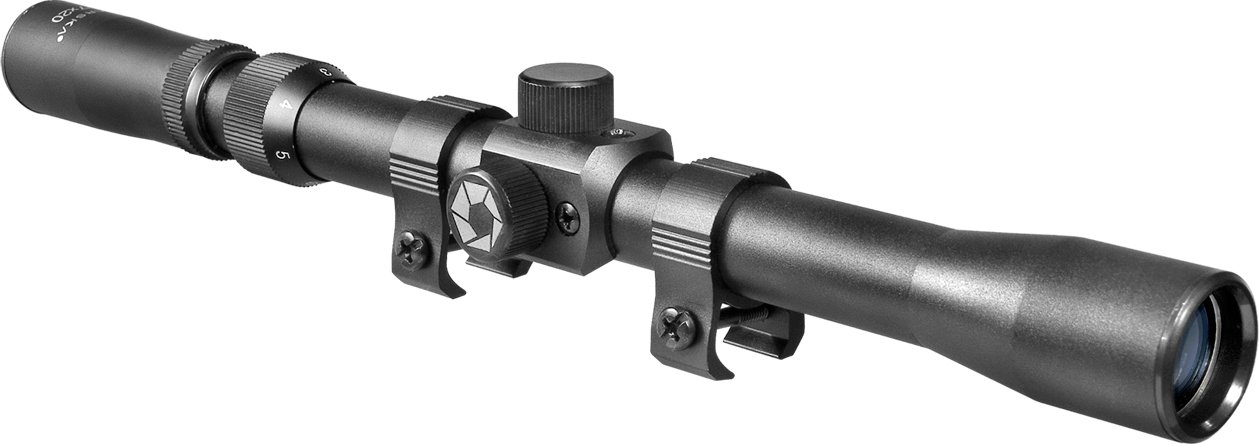 7. Winbest 3-7x20 mm 30/30 Reticle Rimfire Scope