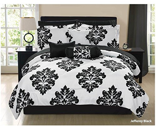 Jefferey 6-piece Bed in a Bag Set Black/White (Twin) MALLIBU CL