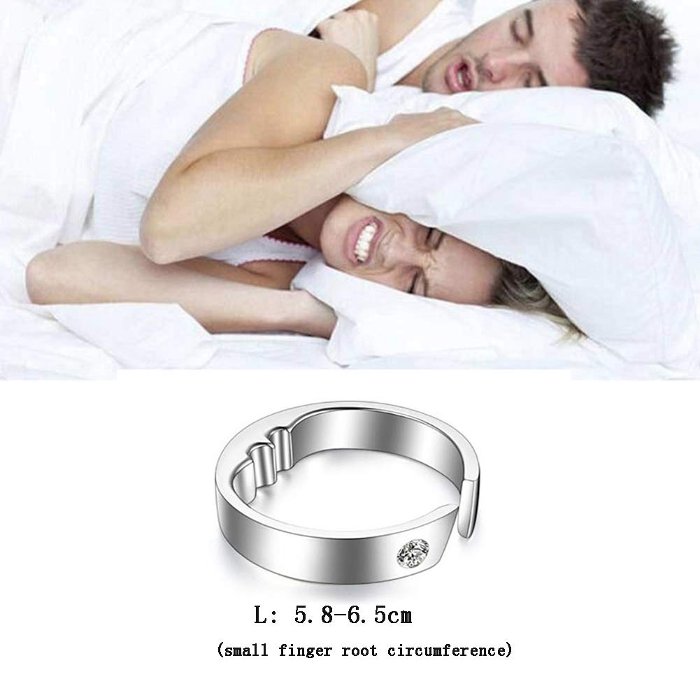 ZZYYZZ Cojín de masaje Anti-snoring Device Acupressure Massage Anti-snoring Ring Assisted Sleep 3 Sizes Suitable for All,L