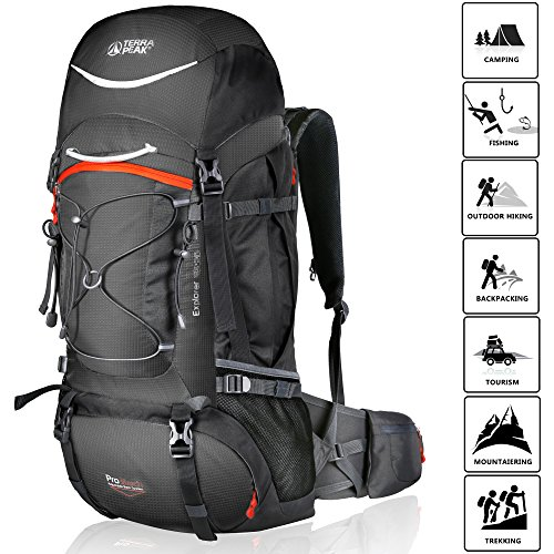 TERRA PEAK Adjustable Hiking Backpack...