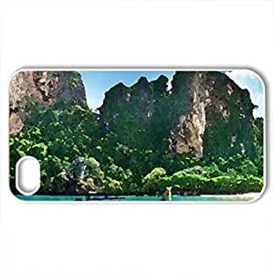 Thailand Beach - Case Cover for iPhone 4 and 4s (Beaches Series, Watercolor style, White)
