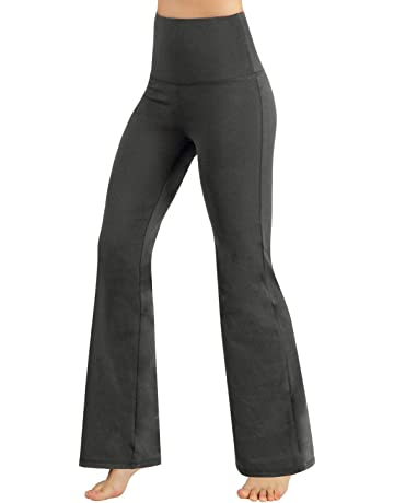 64b0ded358fca7 ODODOS Power Flex Boot-Cut Yoga Pants Tummy Control Workout Non See-Through  Bootleg