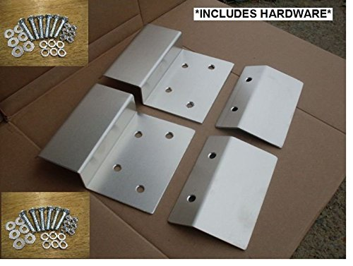 "Aluminum Loading Ramp Kit 12"" Ends Tops Bottoms 4 Piece Hardware"