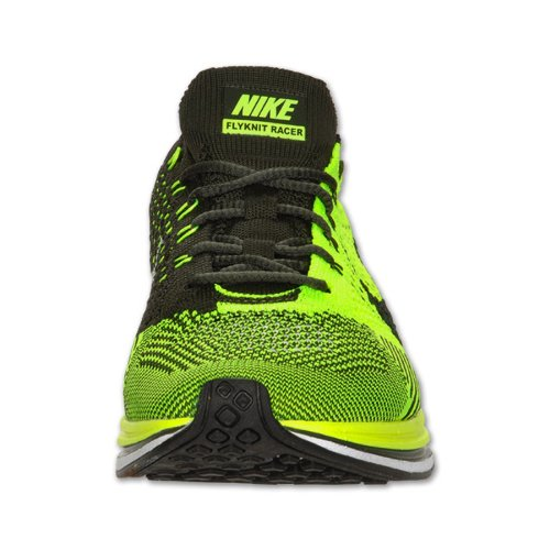 48649ee365ab Nike Flyknit Racer Volt Black Olive Green Summit Men s Running Shoes - UK  10  Buy Online at Low Prices in India - Amazon.in