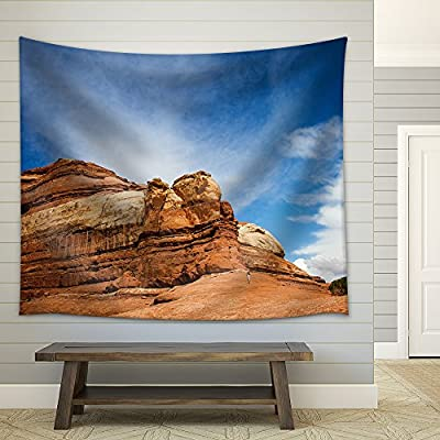 Delightful Artistry, Made With Love, Orange Rock Formation Fabric Wall
