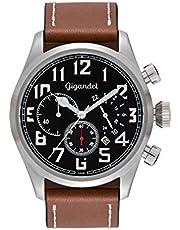 Gigandet G4-002 Montre pour Homme avec Bracelet en Cuir Marron