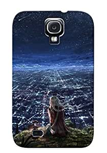 Hot New Girl Watching City At Night Case Cover For Galaxy S4 With Perfect Design