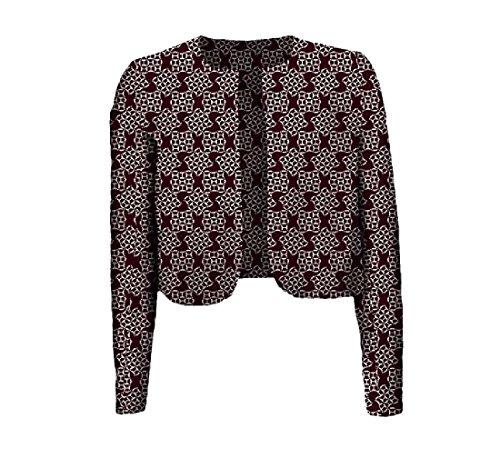 cheelot Womens Batik Coat Crop Top Floral Printed Africa Dashiki Cardigan 7 2XL by cheelot